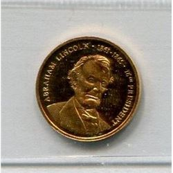 USA GOLD MEDAL (ABRAHAM LINCOLN) *CCCS PF-65*