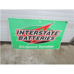 "BATTERY SIGN (INTERSTATE) *48"" X 30""*"