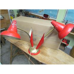 METAL LAMP (ART DECO) *NEEDS RE-WIRING*