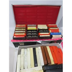 ASSORTED 8 TRACK TAPES W/CASE (RAY GRIFFS, MOE BANDY, ETC...)