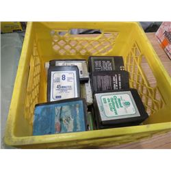 LOT OF 8 TRACK TAPES (JOHNNY CASH, MARTY ROBBINS, ETC...)