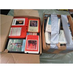 LOT OF ASSORTED CD'S AND VHS TAPES (SUPER DAVE, BARRAGE, ETC...)