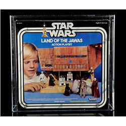 Lot # 38: Land of the Jawas Action Playset AFA 80