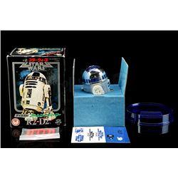 Lot # 72: Takara Missile Firing R2-D2 Diecast Toy - Unuse