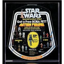 "Lot # 110: ""Get A Free Boba Fett"" Bell Display AFA 95"