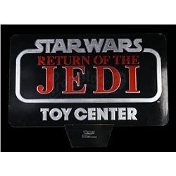 Lot # 115: ROTJ Foil Logo Display with Original Shipping