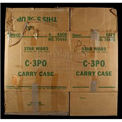 Lot # 120: C-3PO Carrying Case Shipping Box
