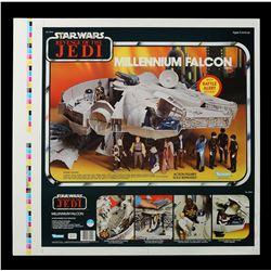 Lot # 158: ROTJ Proof Sheet - Millennium Falcon AFA 85