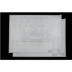 "Lot # 160: Kenner ""Rocket Bike"" (Speeder Bike) Blueprints"