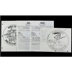 Lot # 163: Boba Fett Coin Sign Off Sheets