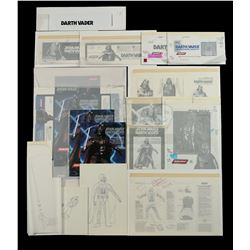 Lot # 165: Darth Vader Model Figure Kit Proofs and Hand-D