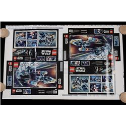 Lot # 169: Lego TIE Fighter And Y-Wing #7262 Proof Sheet