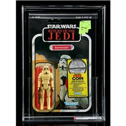 Lot # 255: Stormtrooper ROTJ77B (With Coin Offer) AFA 80Y
