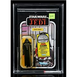 Lot # 257: Darth Vader ROTJ77B (Two Offer Stickers) AFA 8