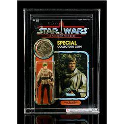 Lot # 286: Luke Skywalker (In Battle Poncho) POTF CAS 80Y