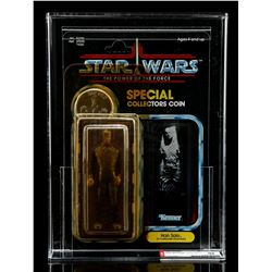 Lot # 291: Han Solo (In Carbonite Chamber) POTF AFA 85Y