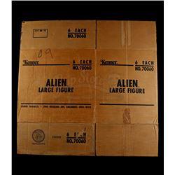 "Lot # 387: Alien 18"" Figure Original Factory Shipping Cas"