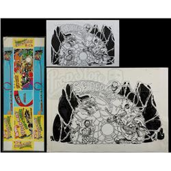"""Lot # 394: Hand-Drawn Hot Wheels """"Spider-Man's Web of Ter"""