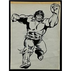 Lot # 461: Hand-Drawn Original Hulk Artwork By Errol McCa