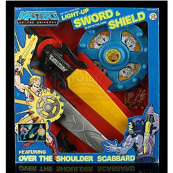 Lot # 503: Light-Up Sword And Shield Dress Up Playset