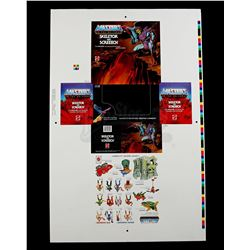Lot # 508: Skeletor and Screech Proof Sheet
