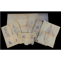 Lot # 514: Rambo Villain Figure Blueprints