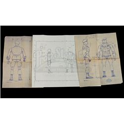 Lot # 515: Trautman Figure Blueprints