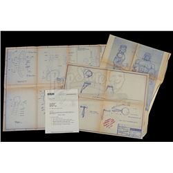 Lot # 516: Rambo Figure Blueprints