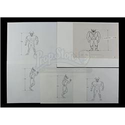 Lot # 524: Silverhawks Mumbo-Jumbo Concept Sheets