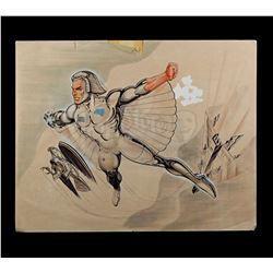 Lot # 527: Hand-Drawn Silverhawks Quicksilver Original Co