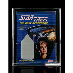 Lot # 535: Lt. Tasha Yar Proof Card AFA 85 (Unproduced)