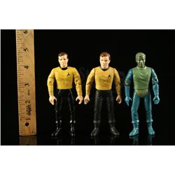 Lot # 547: Hand-Painted Captain Kirk Hardcopy and Two Fir