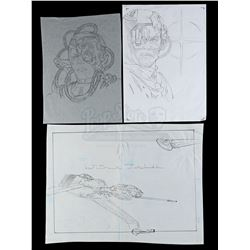 Lot # 554: Hand-Drawn Original Packaging Design Pencil Ar