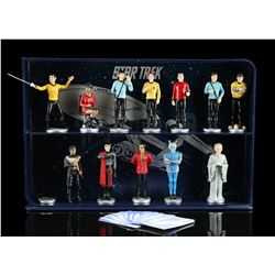 Lot # 555: 12 Star Trek PVC Figures In Display Case