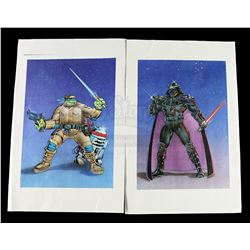 Lot # 590: Teenage Mutant Ninja Turtles/Star Wars Crossov