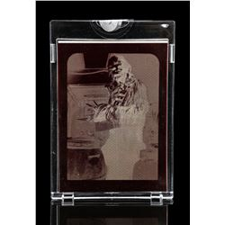 Lot # 613: The Topps Vault: 3 Chewbacca Card Negatives