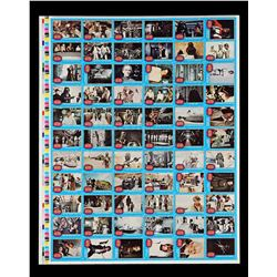 Lot # 617: Topps Trading Cards Uncut Sheet (1st Series)