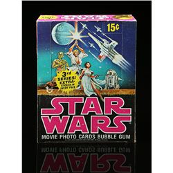 Lot # 620: Topps Star Wars Movie Photo Cards Bubble Gum (