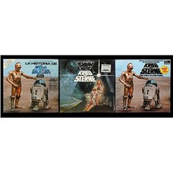 Lot # 625: 3 Star Wars Records With Sleeves