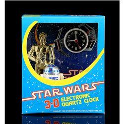 Lot # 635: Star Wars 3-D Stand-Up Clock - Unused [Kazanji