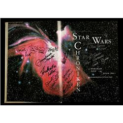 Lot # 659: Autographed German Star Wars Chronicles Book (