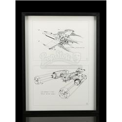 Lot # 669: Framed Joe Johnston X-Wing And Y-Wing Supersni