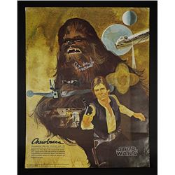 Lot # 670: Peter Mayhew-Autographed Burger King Poster