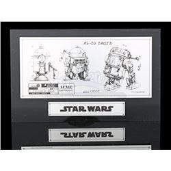 Lot # 672: R2-D2 Sketch Plate (#666/1000)