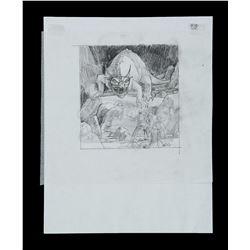 Lot # 705: Hand-Drawn Ralph McQuarrie Concept Sketch - Kr