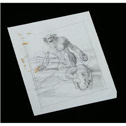 Lot # 706: Hand-Drawn Ralph McQuarrie Concept Sketch - Wa