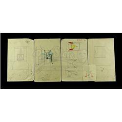 Lot # 721: Hand-Drawn Charlie Bailey Star Destroyer Engin