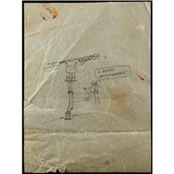 "Lot # 723: ""Gag"" Drawing Attributed to Joe Johnston"