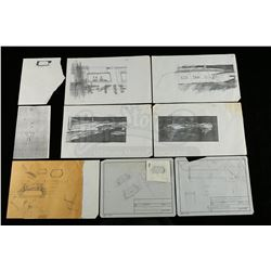 Lot # 725: Hand-Drawn Charlie Bailey Rebel Cruiser and Wi
