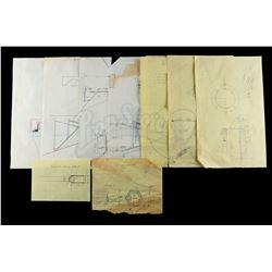 Lot # 727: Hand-Drawn Charlie Bailey Snow Walker Drawings